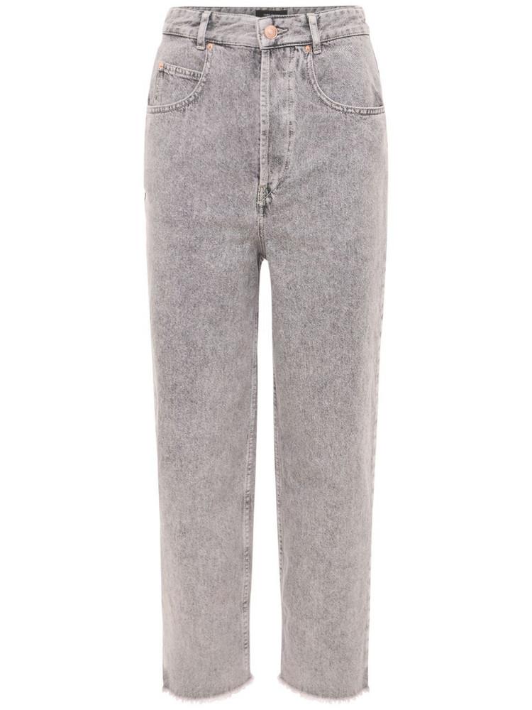 ISABEL MARANT Laliskasr Wide Leg Denim Jeans in grey