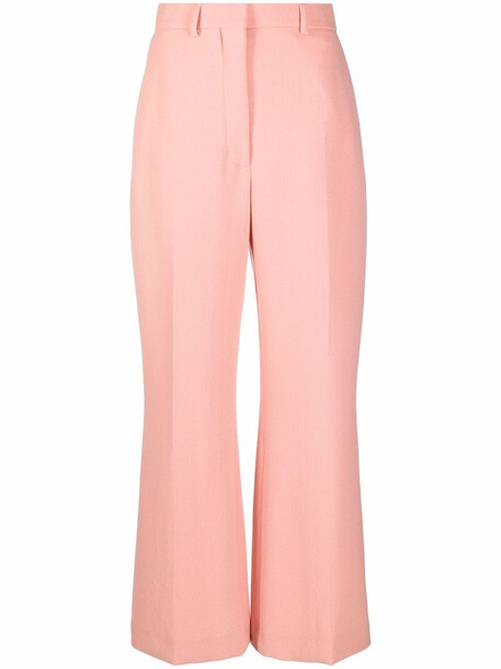 Casablanca high-waisted flared trousers - Pink