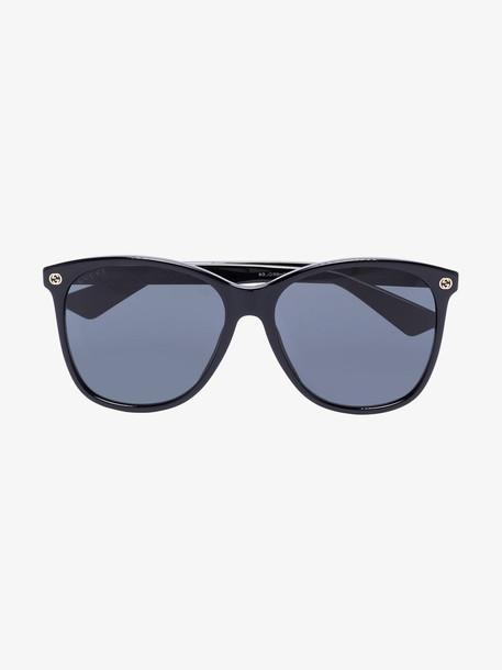 Gucci Eyewear black oversized square sunglasses