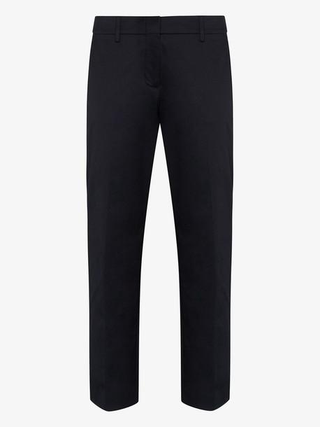 Prada slim leg cropped trousers in blue