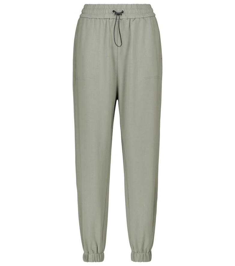 VARLEY Nevada stretch-cotton sweatpants in green