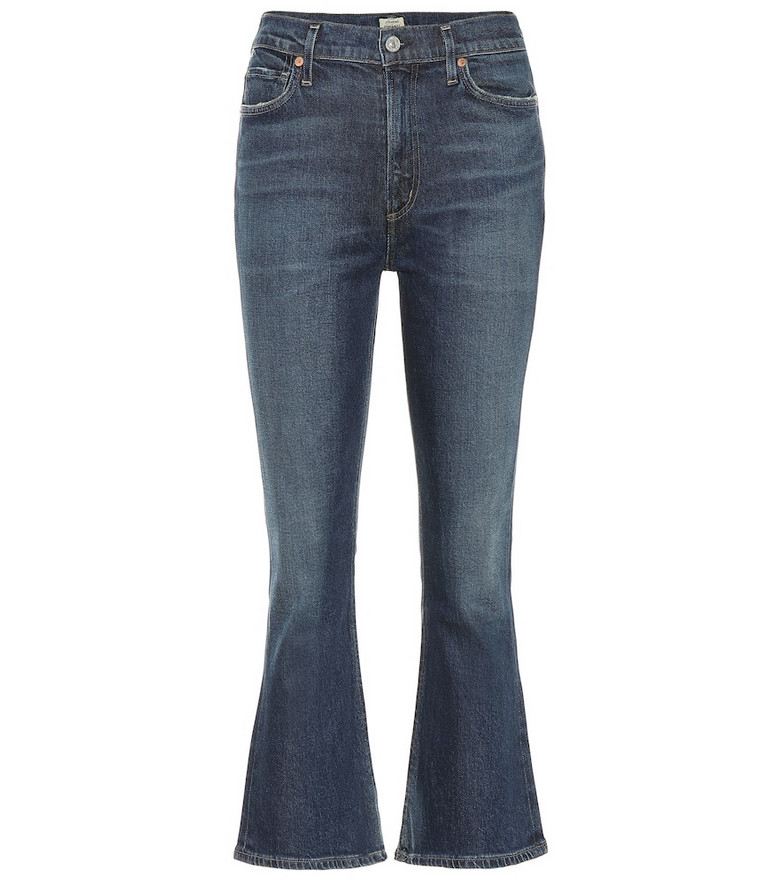 Citizens of Humanity Demy high-rise cropped jeans in blue