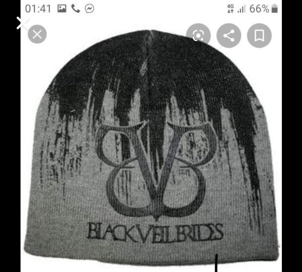 hat black veil brides