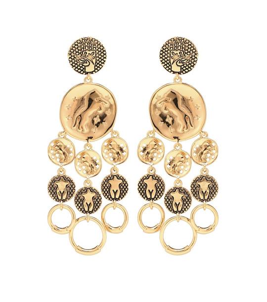 Chloé Emoji drop earrings in gold