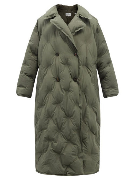 Maison Margiela - Double-breasted Quilted Shell Coat - Womens - Khaki