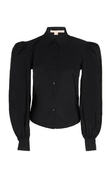 Brock Collection Bishop-Sleeved Blouse Size: 2 in black