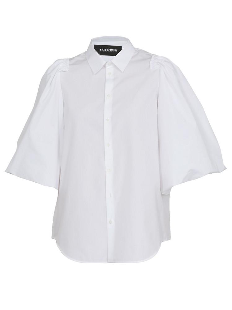 Neil Barrett Shirt With Ruffle in white