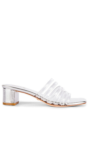 RAYE Lyric Sandal in Metallic Silver