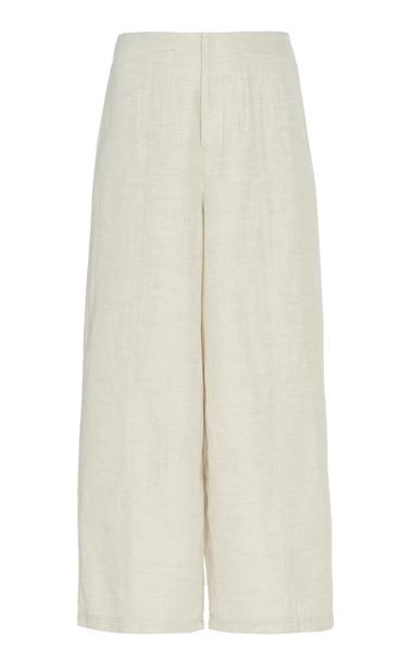 Áeron Faye Mid-Rise Wide-Leg Pants Size: 32 in white