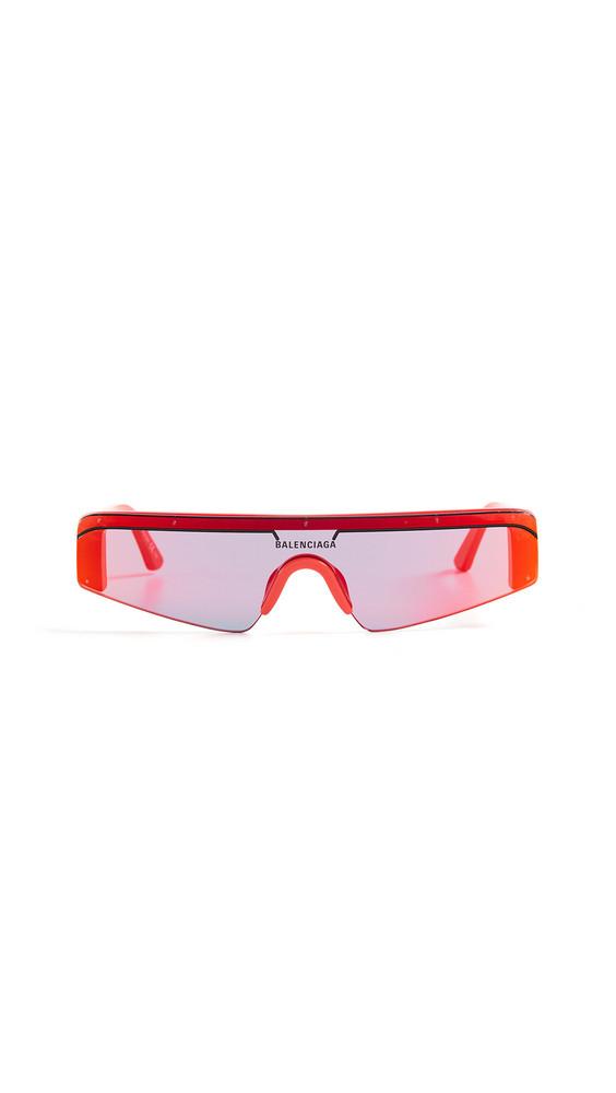 Balenciaga Ski Straight Sunglasses in red