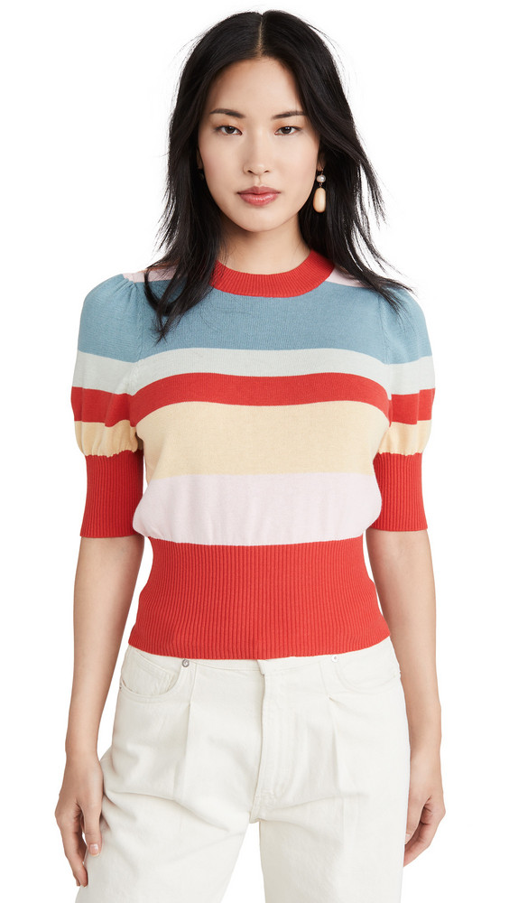 Rachel Antonoff Bijou Sweater in blue / red / multi