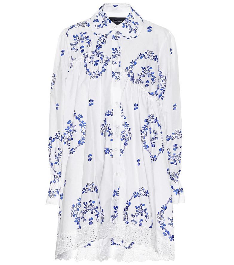 Simone Rocha Floral cotton-blend shirt in white