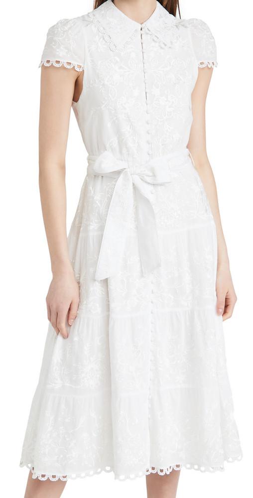 alice + olivia alice + olivia Vannessa Midi Dress in white