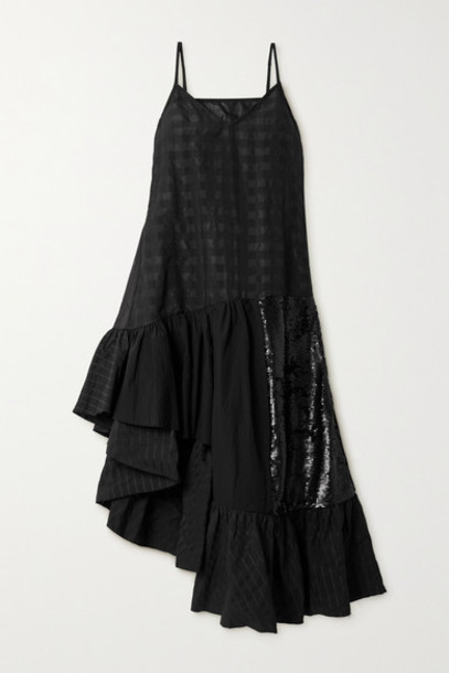 Marques' Almeida - Net Sustain Rem'ade By Marques' Almeida Cotton And Sequined Tulle Dress - Black