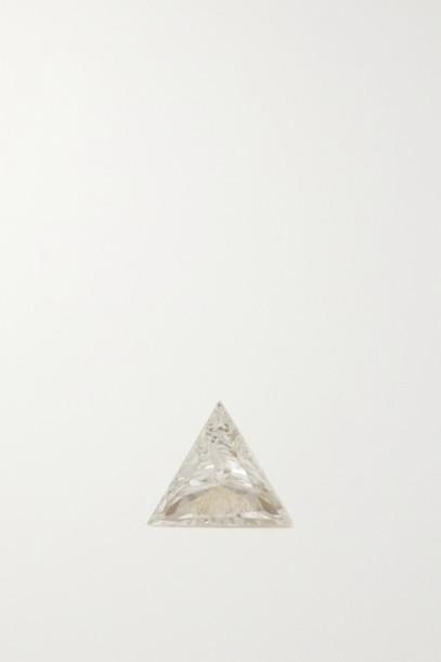 MARIA TASH - 3mm Invisible 18-karat Gold Diamond Earring