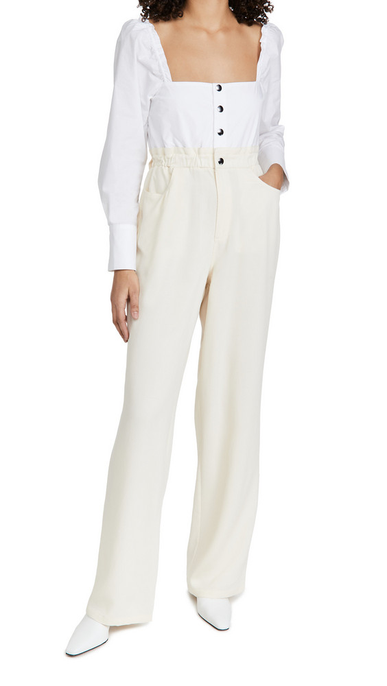 WeWoreWhat Shirt Jumpsuit in ivory