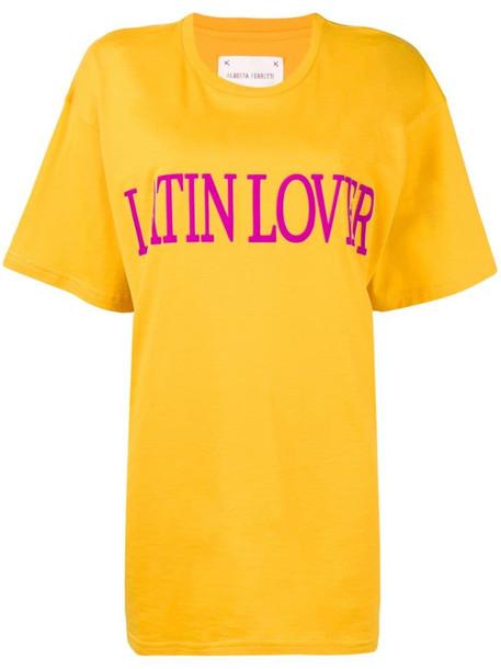 Alberta Ferretti 'latin lover' printed T-shirt in yellow