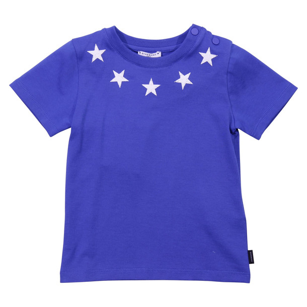 Givenchy Blue Cotton Jersey T-shirt