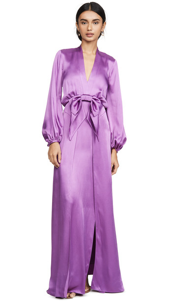 Temperley London Grace Gown in violet