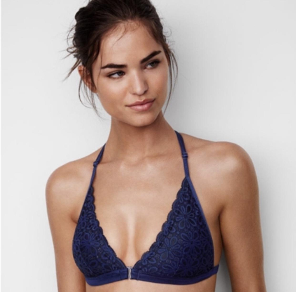 underwear laced navy bra victoria's secret bralette lace lace bralette