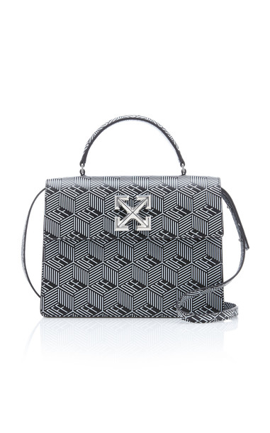 Off-White c/o Virgil Abloh Jitney 2.8 Monogram Leather Bag in black