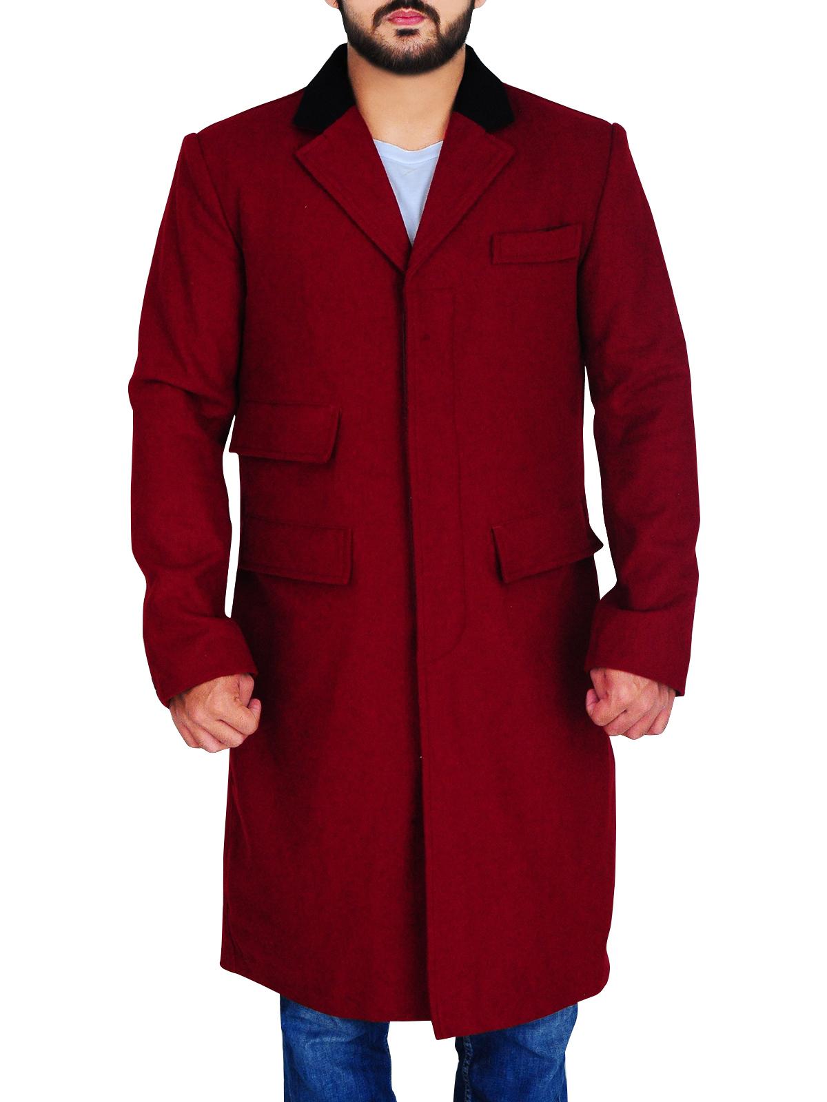 coat hugh jackman burgundy wool coat menswear movies