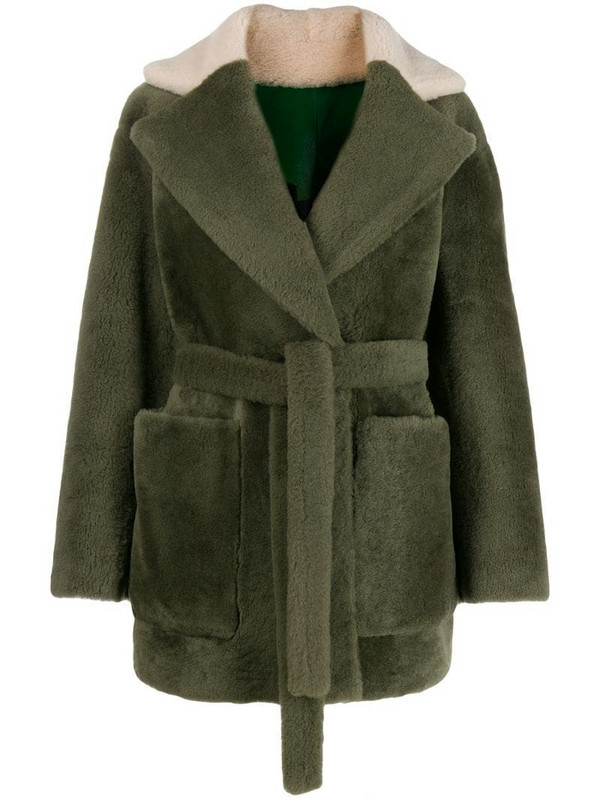Blancha reversible oversized jacket in green