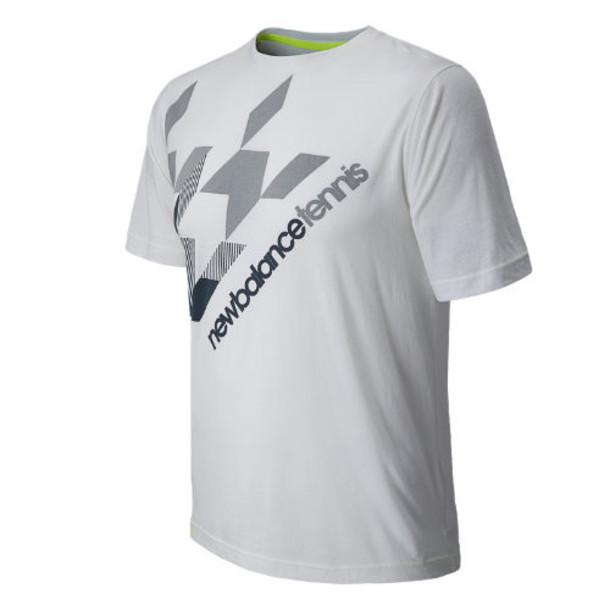 New Balance 4354 Men's Big Brand Houndstooth Tee - White (MTT4354WT)