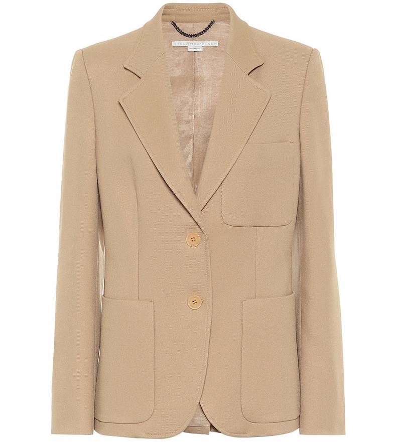 Stella McCartney Eleanor single-breasted twill blazer in beige