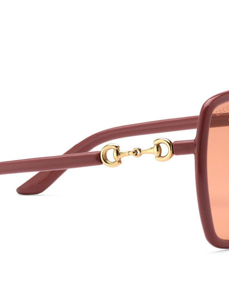 Gucci Eyewear oversize-frame tinted-lens sunglasses in pink
