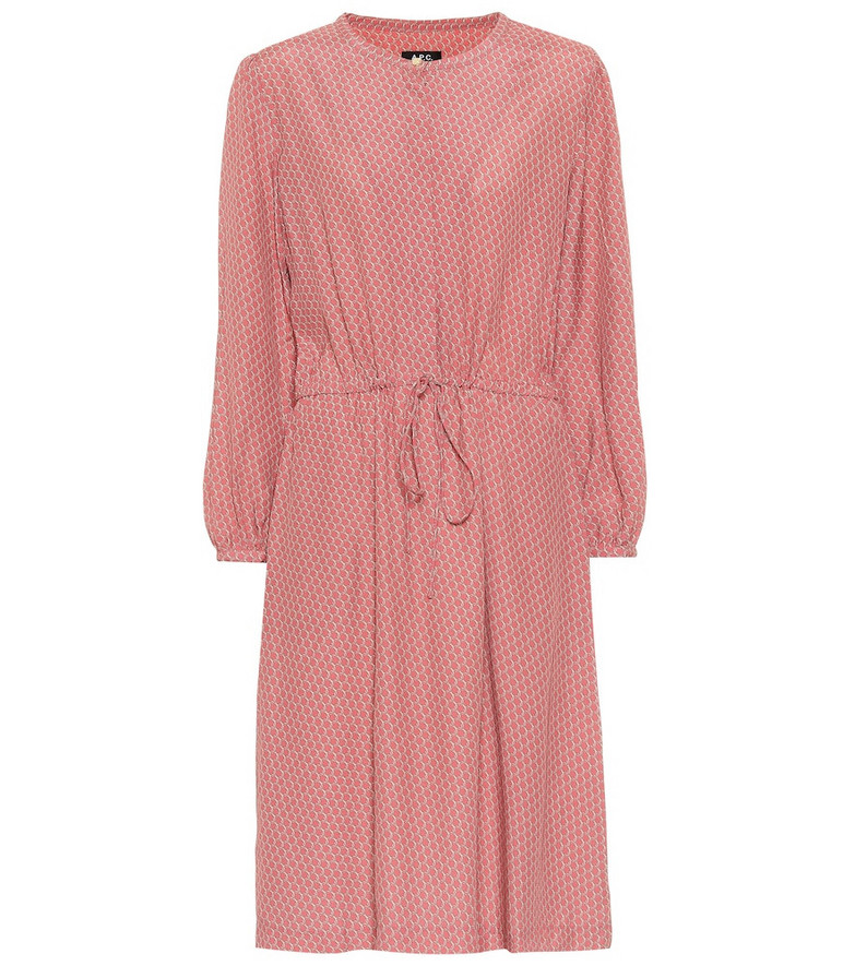 A.P.C. Isabella printed dress in pink