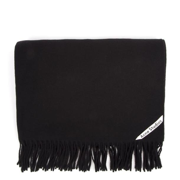 Acne Studios Oversized Black Wool Scarf