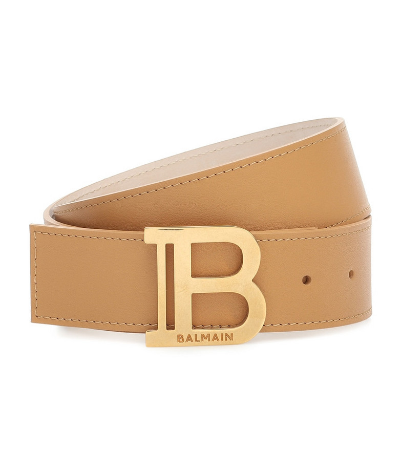 Balmain B-Belt leather belt in beige