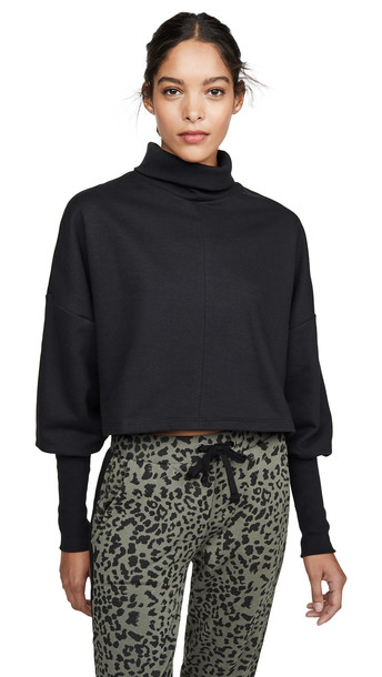 The Range Divided Turtleneck Sweatshirt in black