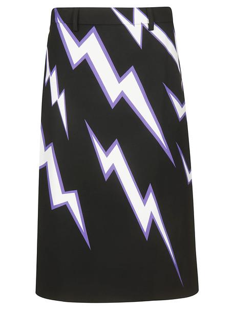 Prada Printed Skirt in black