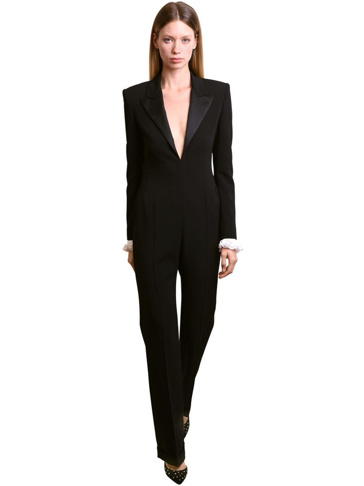 PHILOSOPHY DI LORENZO SERAFINI Embellished Cuffs Jumpsuit in black