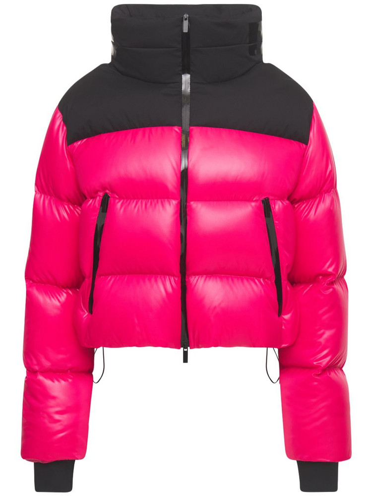 MONCLER Jasione Nylon Laque Down Jacket in pink