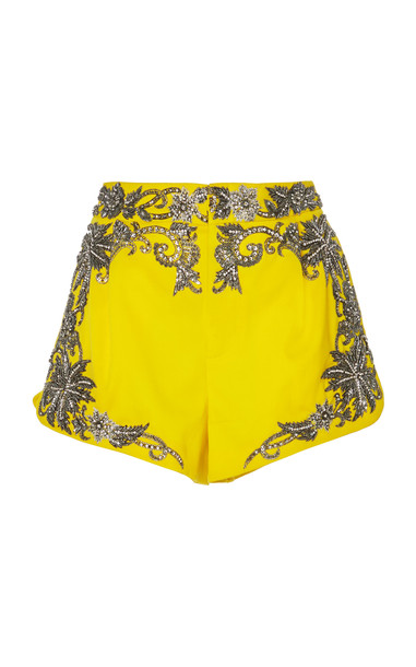 Dundas Embellished Mini Short in yellow