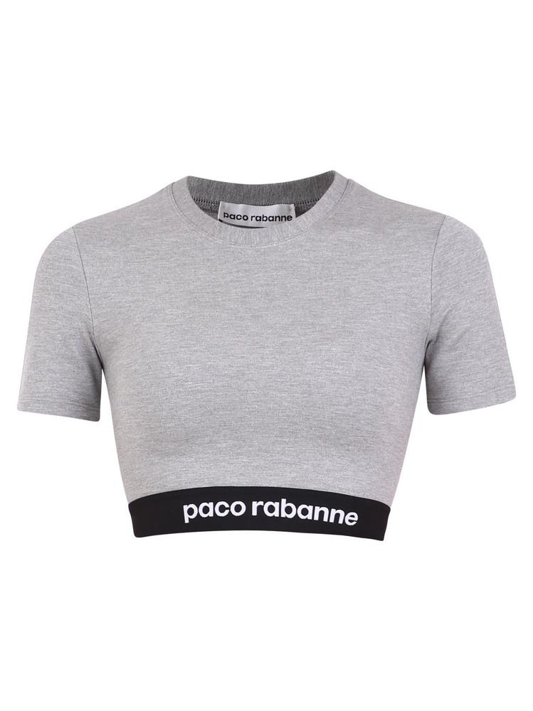 Paco Rabanne Branded Top in grey