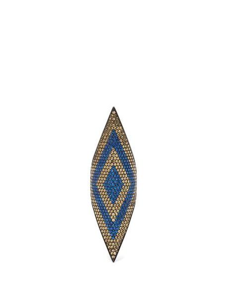 Lynn Ban - Sapphire & Rhodium Plated Ring - Womens - Blue