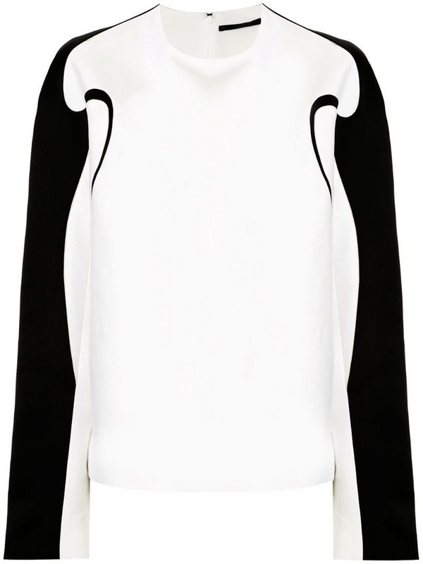 Haider Ackermann boxy fit contrast piping top in white