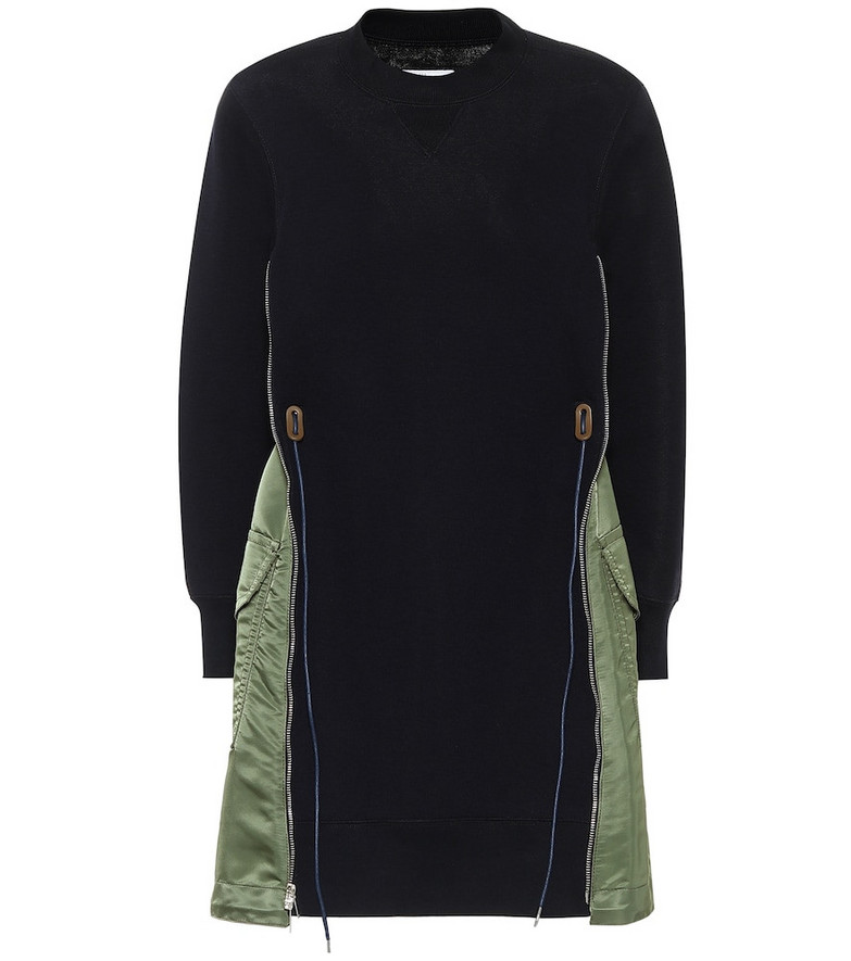Sacai Cotton-blend minidress in blue