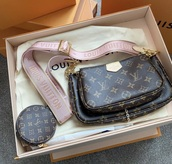 bag,louis vuitton,brown,gold,pink,rose,purse,clutch,pretty