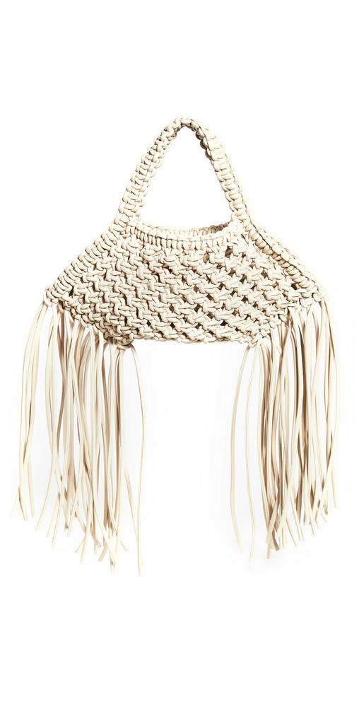 Yuzefi Mini Woven Basket Bag in white