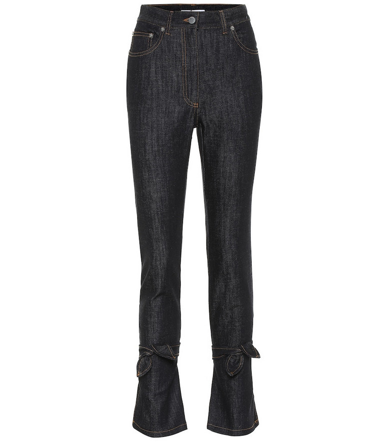 JW Anderson High-rise slim fit jeans in blue