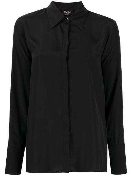 LIU JO satin shirt in black