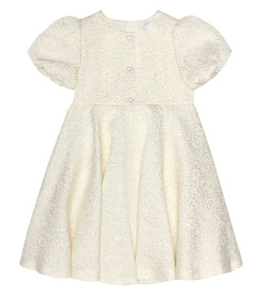 Dolce & Gabbana Kids Jacquard dress in white