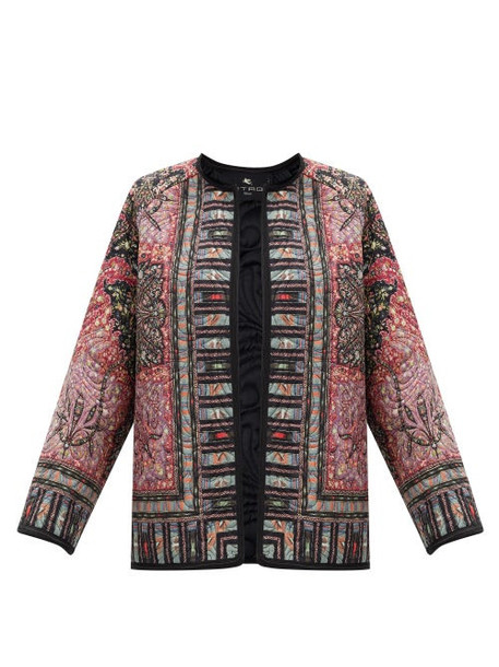 Etro - Brumby Floral-print Quilted Jacket - Womens - Red Multi