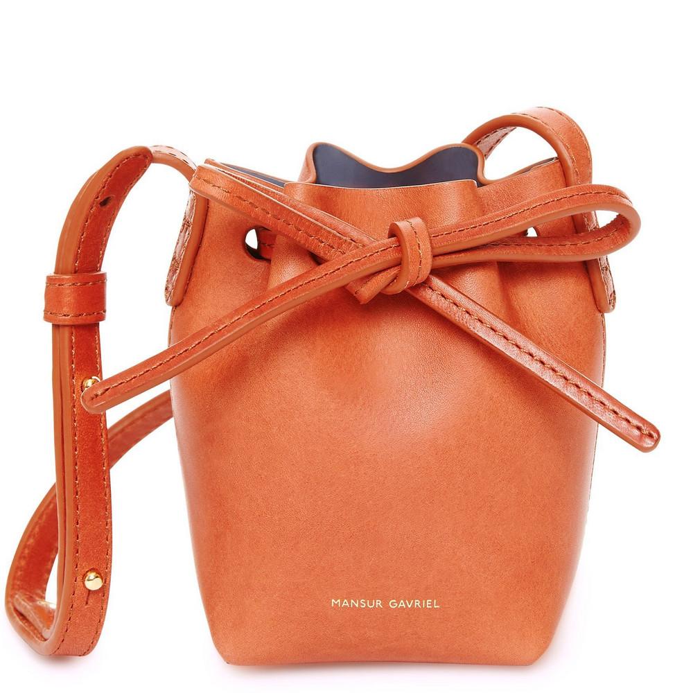 Mansur Gavriel Baby Bucket Bag Brandy - Avion
