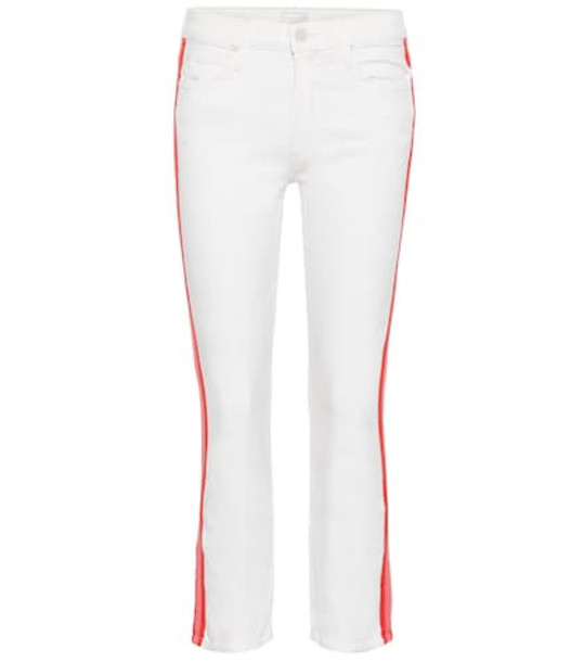 Mother The Dazzler mid-rise cropped jeans in white